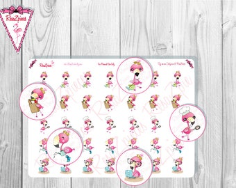 Franny Flamingo Stickers - Things To Do