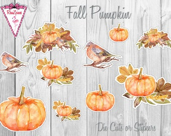 Fall Pumpkins - Die Cut / Sticker Set