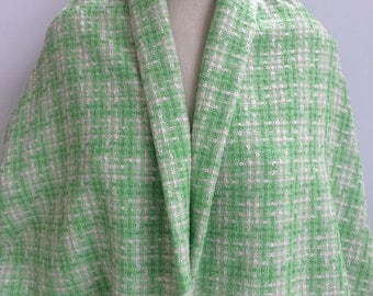 Bright Green and Pink Boucle - Sold by the Yard