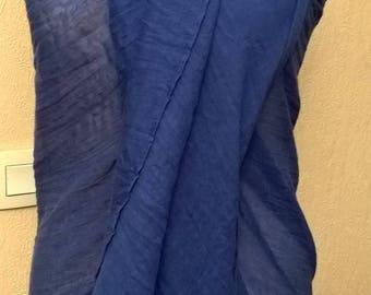 Pure color of royal blue cotton pareo