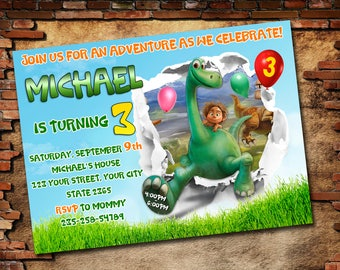The Good Dinosaur, Good dinosaur Invitation, Good Dinosaur Birthday, The Good Dinosaur Birthday Party, The Good Dinosaur Birthday Party