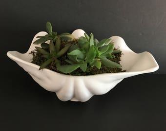 Clam shell planter
