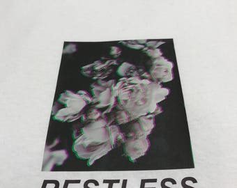 Flower Print T Shirt -  Restless - Streetwear Fashion