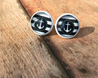 Anchor Earrings, Nautical Jewelry.