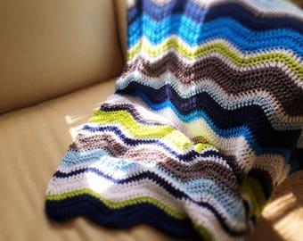 Baby Boy Ripple Blanket