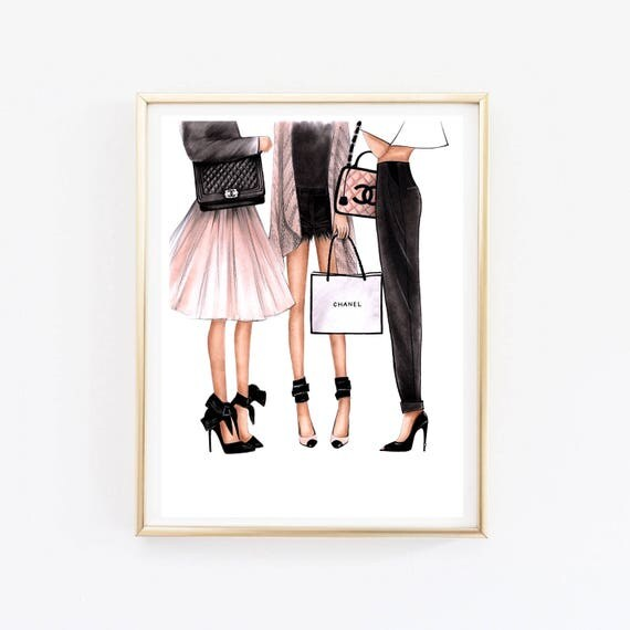 Fashion Wall Art Fashion Illustration Chanel Art Chanel Print Fashion Wall Art