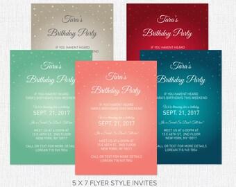 100 Party Invites 5 x 7 & RSVP