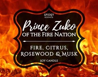 Prince Zuko Soy Wax Candle