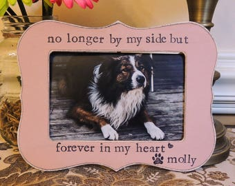 pet loss gift personalized dog frame cat pet sign pet sympathy gift dog photo frame cat - Dog Memorial Frame
