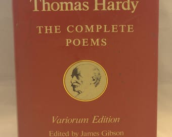 Thomas Hardy – The Complete Poems – Variorum Edition – James Gibson 1979