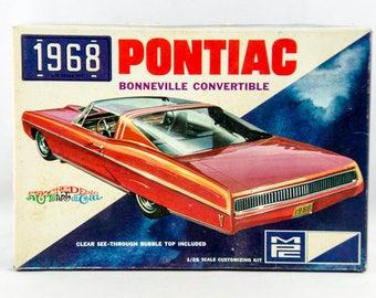 Ultra Rare Vintage MPC 1968 Pontiac Bonneville Convertible 1/25 Model 1068-200