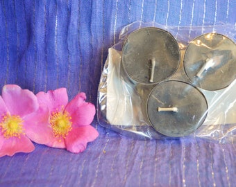 Gray Grounding Reiki Charged Candles with Crystals (Set of 3)