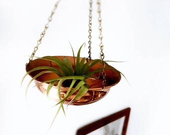 Copper and brass planter | Vintage planter | Hanging planter