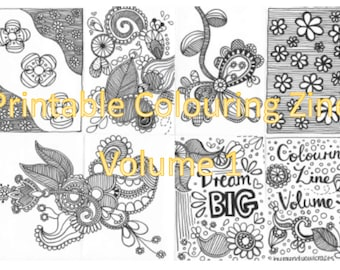 Colouring Zine Volume 1 (printable)