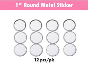 Round Metal Sticker for Magnetic Palettes