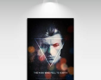 Movie Posters for Man Who Fellto Earth Art Print on Canvas Home Wall Decor