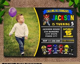 Power Rangers,Power Ranger Invitation,Power Rangers Birthday,Power Ranger Photo,Power Ranger Birthday Invitation,Power Rangers Dino Charge