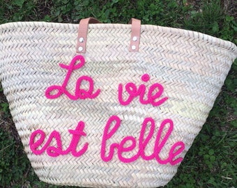 Beach basket, shopping cart, bag or tote bag personalized