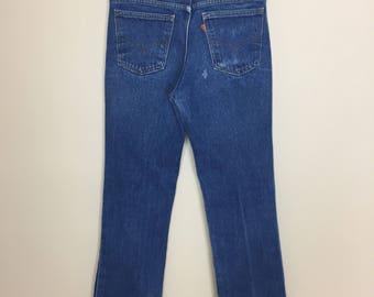 1970's Levi's 517 orange tag jeans