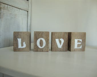 "cube wooden word ""love"""