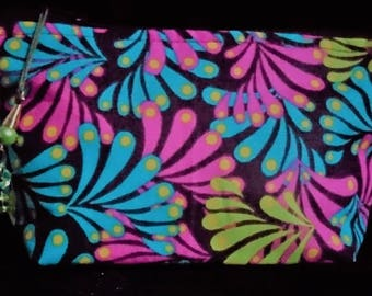 Handcrafted in classic quality cotton fabric and fully lined Makeup bag or can be used for various uses as a pouch.