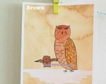 "Watercolor Nursery Pair- ""Fall Woodland Friends"" Prints"