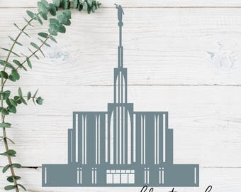 Seattle, Washington LDS Temple Cut File - Digital Download - SVG, Vector, Cricut, Silhouette, Clip Art