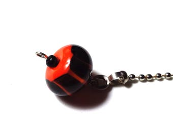 Handcrafted Lampwork Glass Ceiling Fan Chain Pull # 48