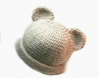 Teddy bear hat, bear hat, crochet baby hats,  baby hats,  crochet bear hat, baby bear hat, hat with ears, baby winter hats, teddy bear hats