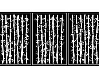 Artistic Steel Driveway Gate - Bamboo Forest - Steel Panel Art - Handmade