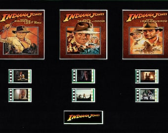 Indiana Jones Trilogy replica film cell display 10 x 8 mounted Harrison Ford