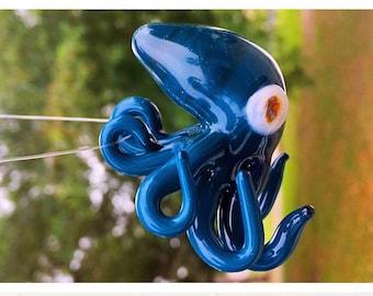 Glass octopus pendant