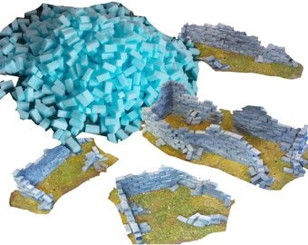 Foam Modelling Bricks [SMALL] - Wargaming Scenery and Terrain - Warhammer 40k Buildings & Ruins