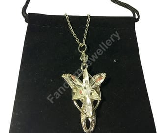 Arwen Evenstar Lord of the Rings Style Necklace Pendant Charm Chain