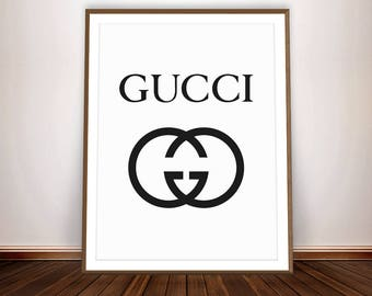 GUCCI Poster * Gucci Logo Fashion Decor Gucci Inspired Gucci Art Gucci Party Fashion Party Gucci shirt Gucci Print Gucci Wall Art Gucci Sign