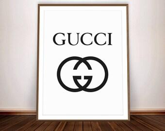 GUCCI Poster * Gucci Logo Fashion Decor Gucci Inspired Gucci Art Gucci Party Fashion Party Gucci shirt Gucci Print Gucci Wall Art Gucci Sign