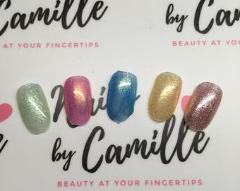 Choose Your Colour & Shape Press On Nails * MADE TO ORDER