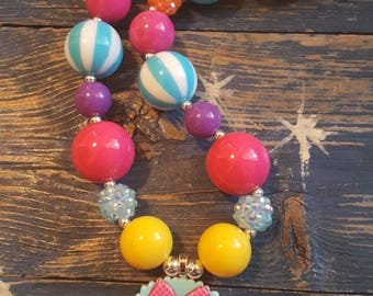 Bubble Gum Necklace Infant/Toddler