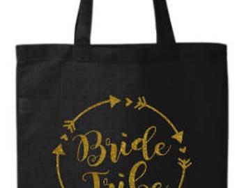 Bride Tribe Bag, Bridal Bag, Bride Tribe Tote, Bachelorette Party Tote, Bachelorette Party
