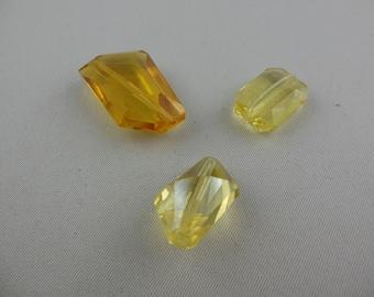 Mix colors yellow Swarovski beads
