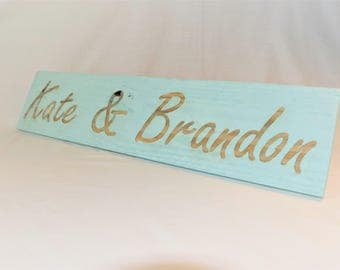 "Engraved ""Custom Name"" Sign 
