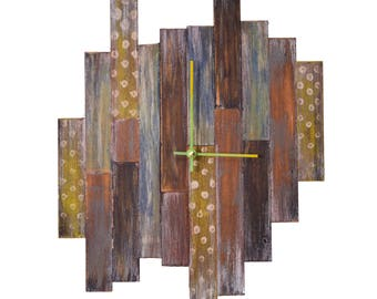 """8"""" Small Shiplap Clock // Custom Wall Clock"""