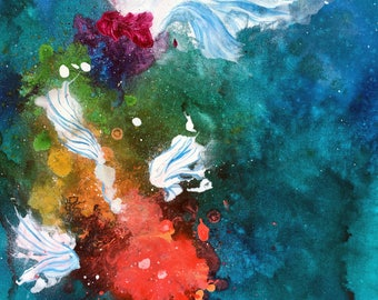 Rainbow Splatter Koi