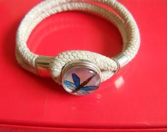 Chunk snap Dragonfly bracelet