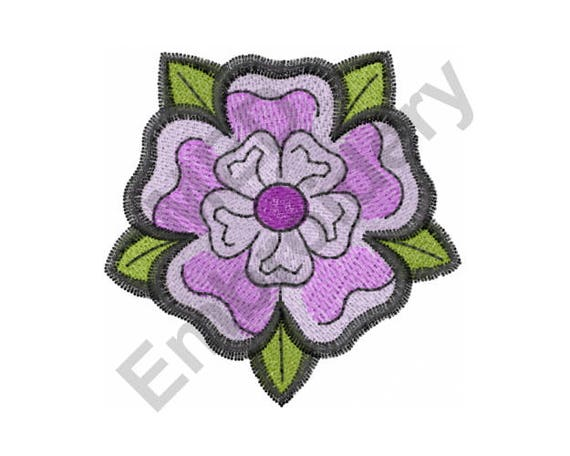 Flower machine embroidery design yorkshire from