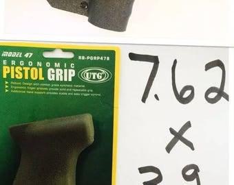 Featureless Grip Fin Wrap Ak47 California Legal Compliant 7.62x39 CA wasr 7.62 NY UTG Shark Fin ny