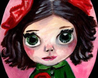"""A3 """"Print"""" of Acrylic Painting Little Person """"Sophie"""" by Treborre.  Take Her Home Today"""