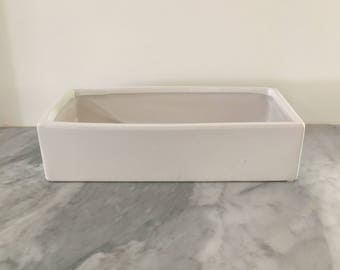 White Tray Planter