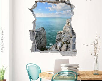 Space Wall Decal Galaxy Wall Sticker Hole In The Wall D - 3d effect wall decals