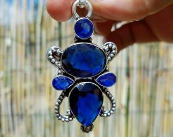 Blue Saphire Vintage Style Pendant